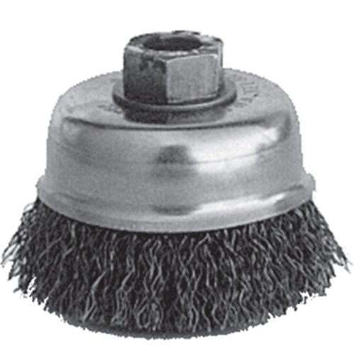 "Brush Cup 3"" Crimped M10 X 1.25"