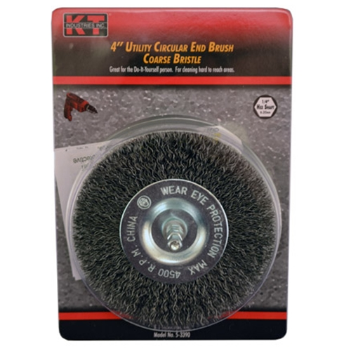 "Brush 4"" Circular End Coarse Hex"