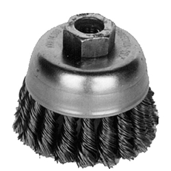 "Brush Cup 4"" X 5/8"" - 11 Knot"