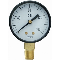 "Gauge 2"" Bottom MNT1/4"" NPT 160 PSI"